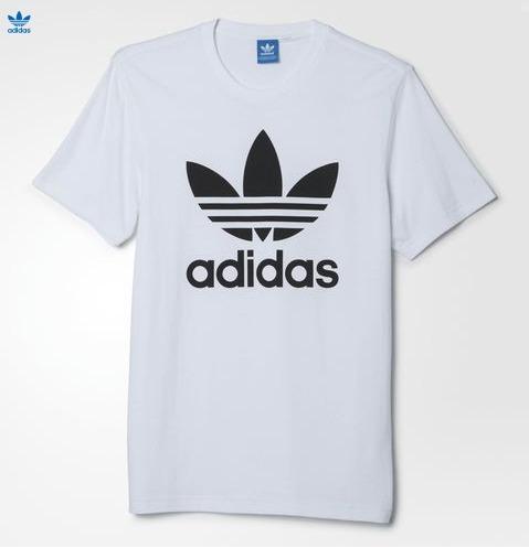 アディダスロゴTシャツ