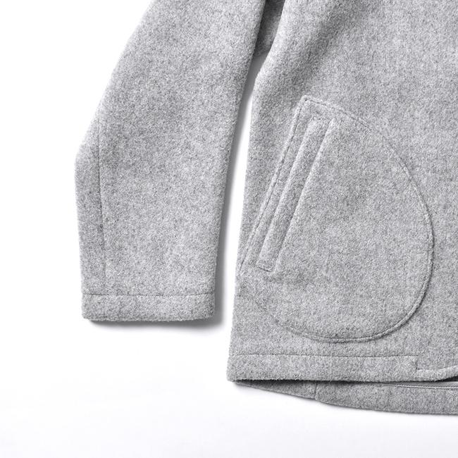 DANTONダントンウールモッサ素材ラウンド型のポケットはデザイン