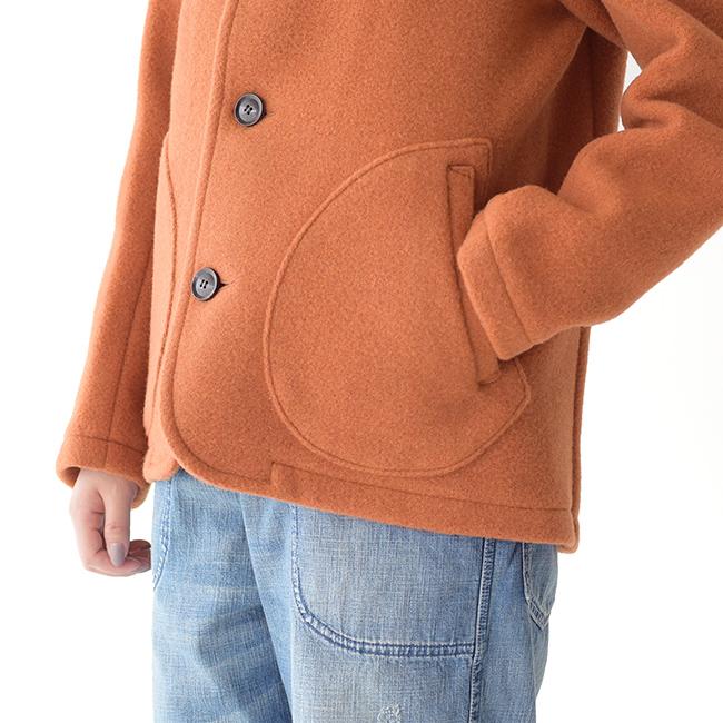 DANTONダントンウールモッサ素材両サイドの大きなラウンド型のポケット