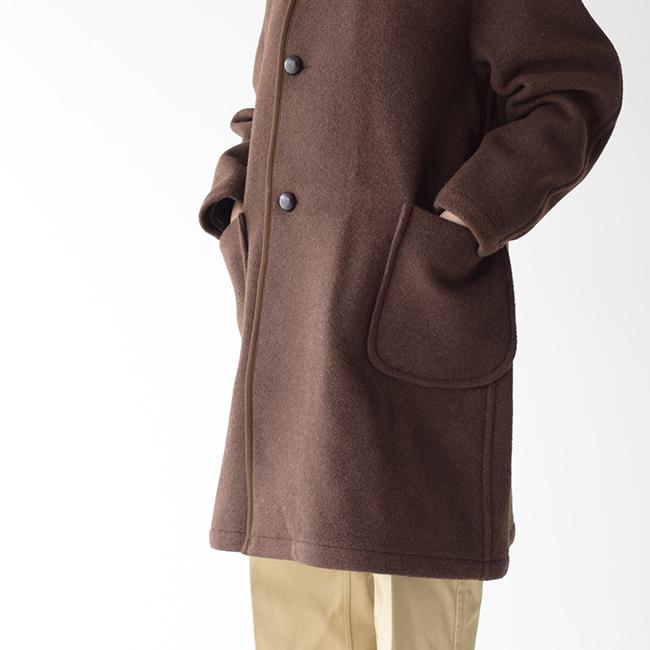 DANTONダントンウールモッサ素材両サイドにはステッチのきいたポケットを配置