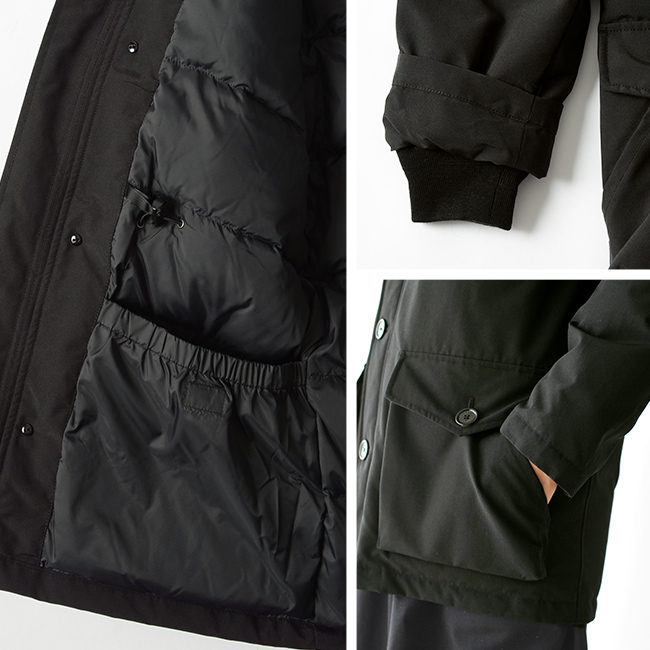 DANTON(ダントン)ファーフード ミドルレングス丈 ダウンジャケットJD-8535LASの素材、仕様