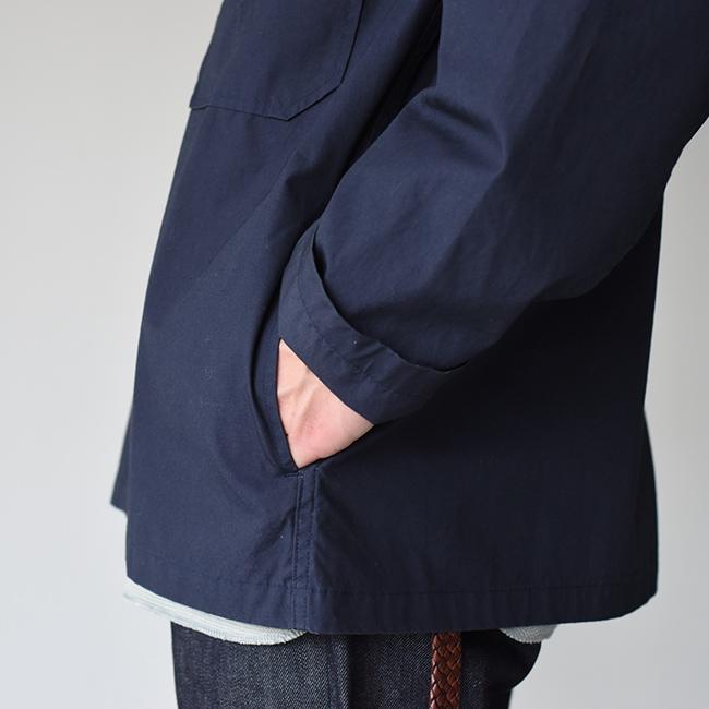 ダントンダウンプルーフノーカラー シングル ジャケットポケット