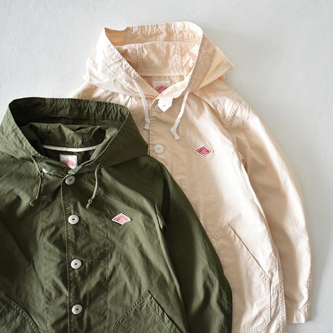 DANTONの拘り光るプレーンなルックスのフーデッドジャケット