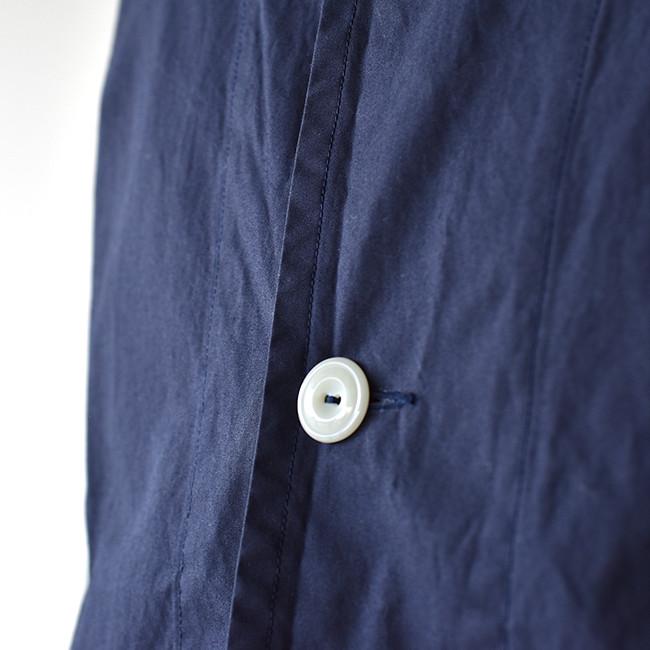 ダントンワークジャケットネイビーボタン