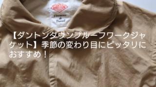【ダントンダウンプルーフワークジャケット】季節の変わり目にピッタリおすすめ3選!