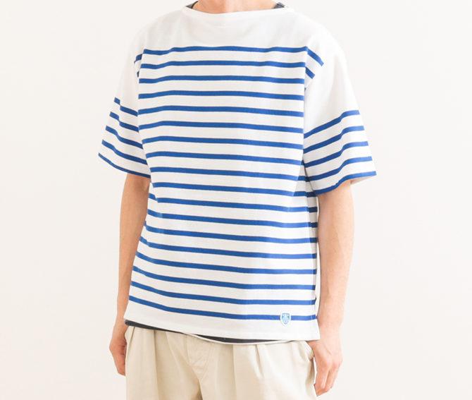 オーシバルラッセルボーダーTシャツ着用感