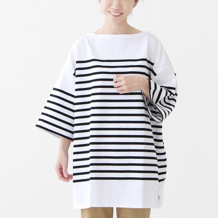 ORCIVAL(オーシバル)ラッセルボーダーTシャツオーバーサイズ