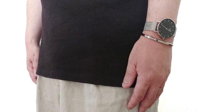 【ダニエルウエリントンPETITE STERLING腕時計】シンプルにきれいめカジュアルコーデ!